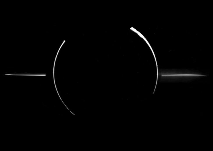 Кольца Юпитера освещены Солнцем