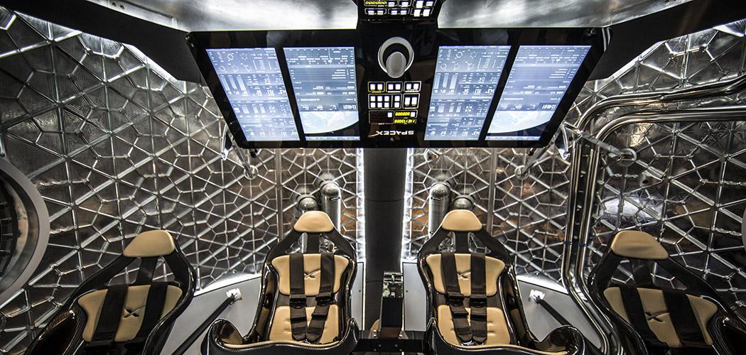 Капсула корабля SpaceX Dragon 2 к МКС
