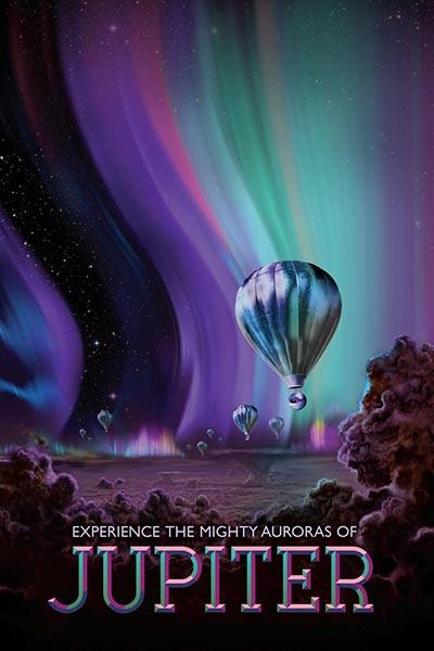 Космический туризм Юпитер, плакат