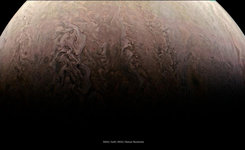 Турбулентные облака Юпитера
