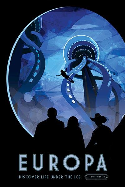 Космический туризм Европа, Плакат