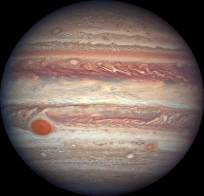 Фото планеты Юпитер от телескопа NASA Хаббл, 3.04.2017