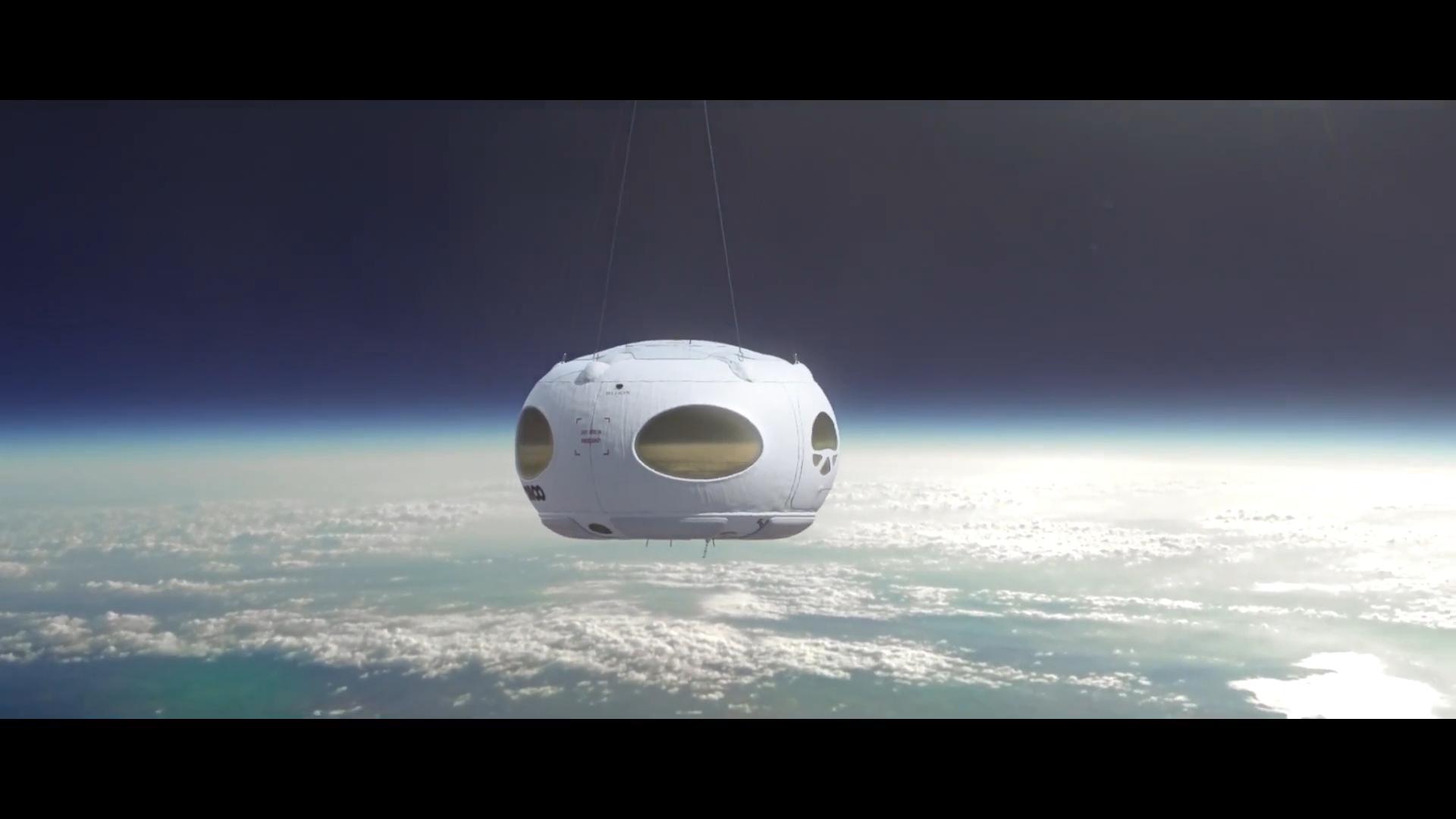 Капсула Bloon компании Zero2Infinity парит на высоте 36 км