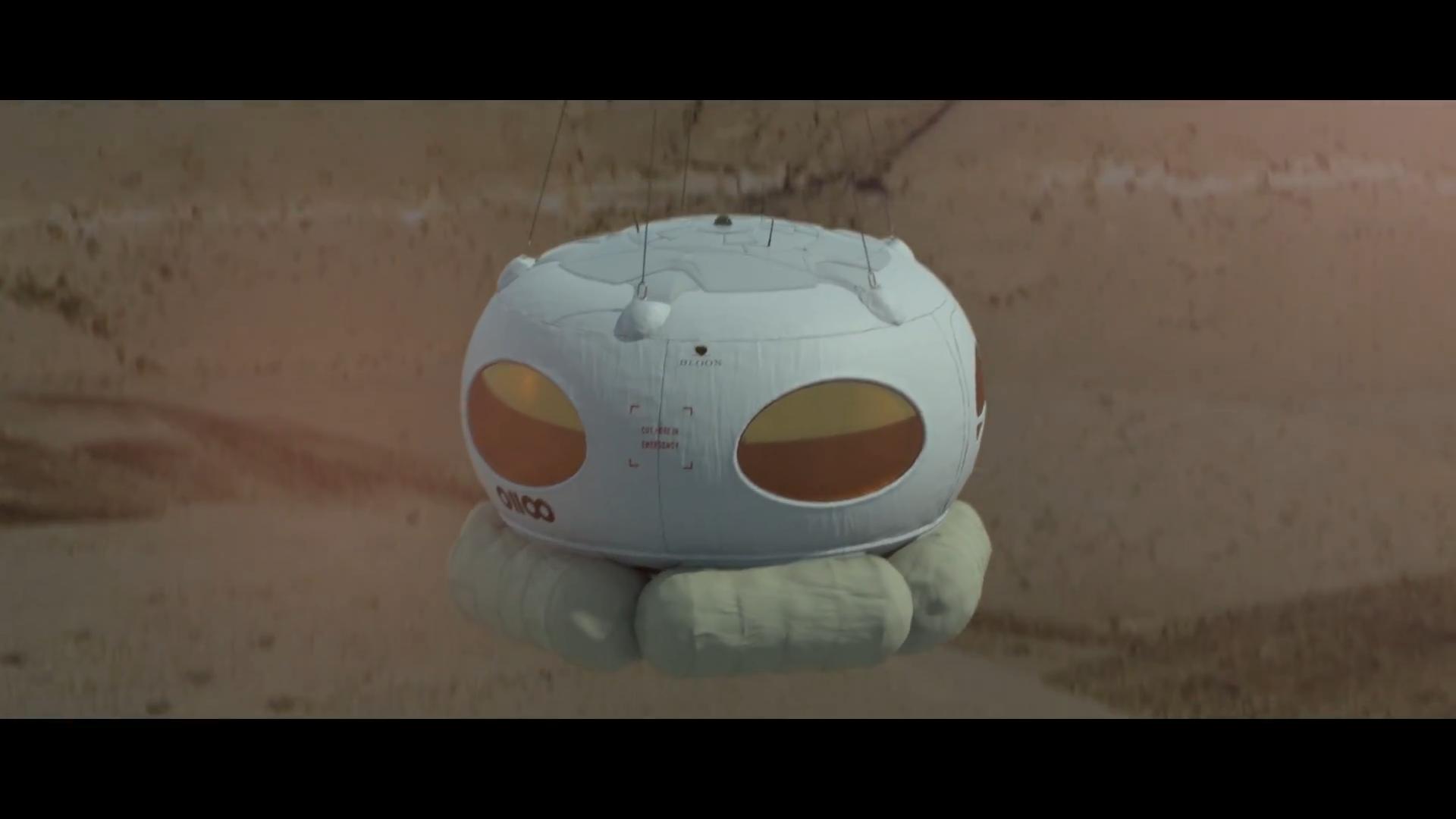 Мягкая посадка капсулы Bloon с надувными подушками