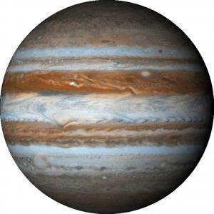 Планета Юпитер — величайшая из планет, пятая от Солнца, газовый гигант