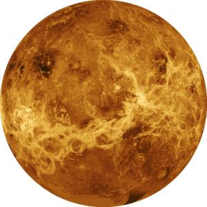 Планета Венера сфотографированная с межпланетной станции Магеллан