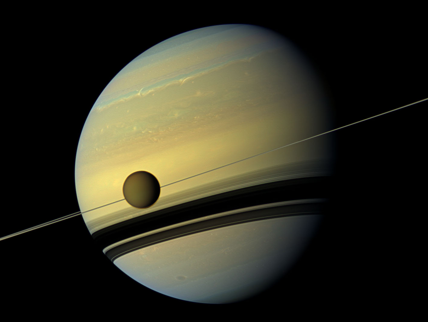 Saturn and Titan-0