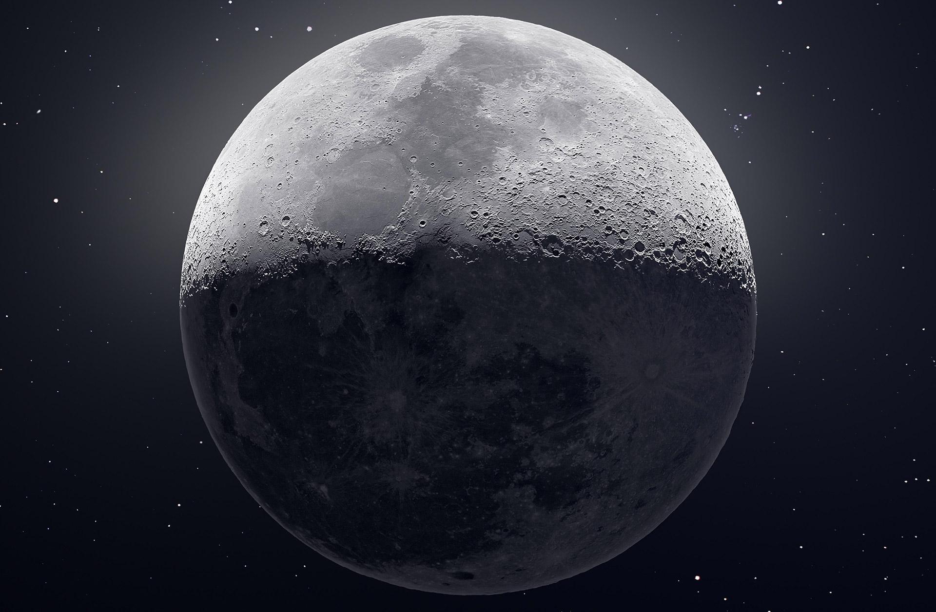 Фрагмент оригинального изображения: Луна, Эндрю МакКарти, 12 февраля 2019