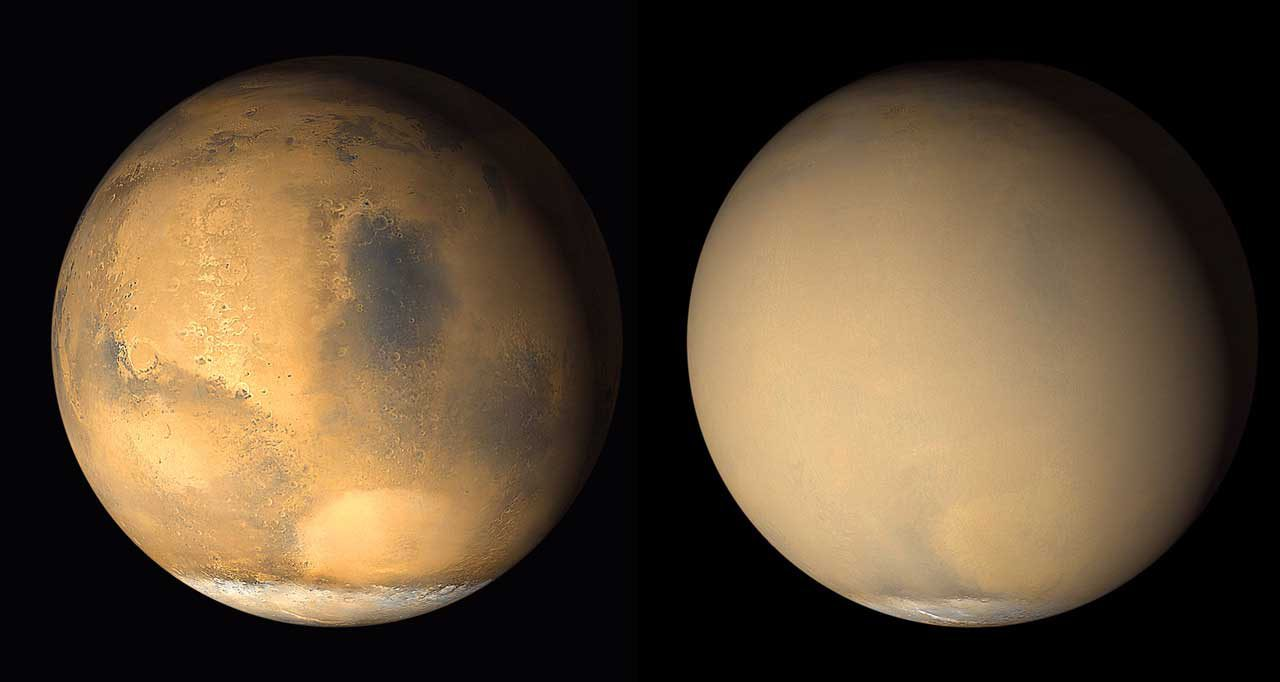 Изменение погоды на Марсе