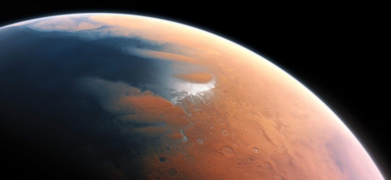 Марс покрыт водой миллиард лет назад — представление художника
