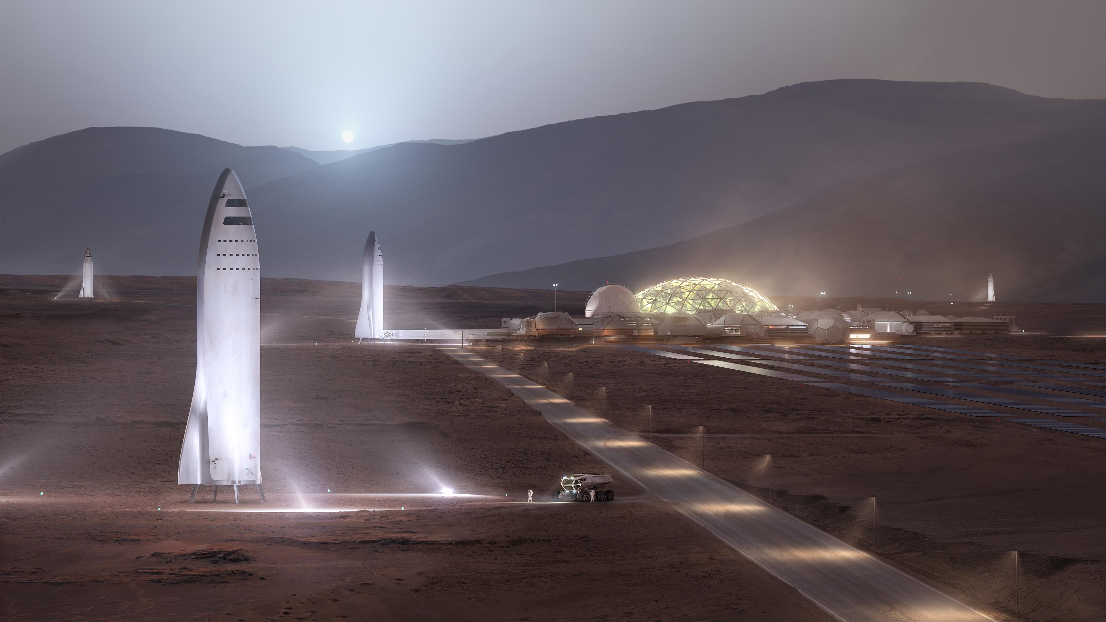 Starship от SpaceX в изображении художника, SpaceX