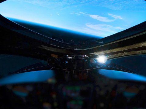 Виз на Землю из ракетоплана VSS Unity